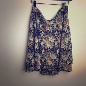 Vintage Express Floral Skirt